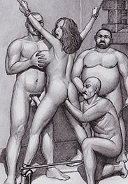 Three huge cocks for you alone - Sex slave welcome party by Badia