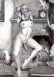 Show your stepfather's friends what you can do to a cucumber - Slave auction by Thorn